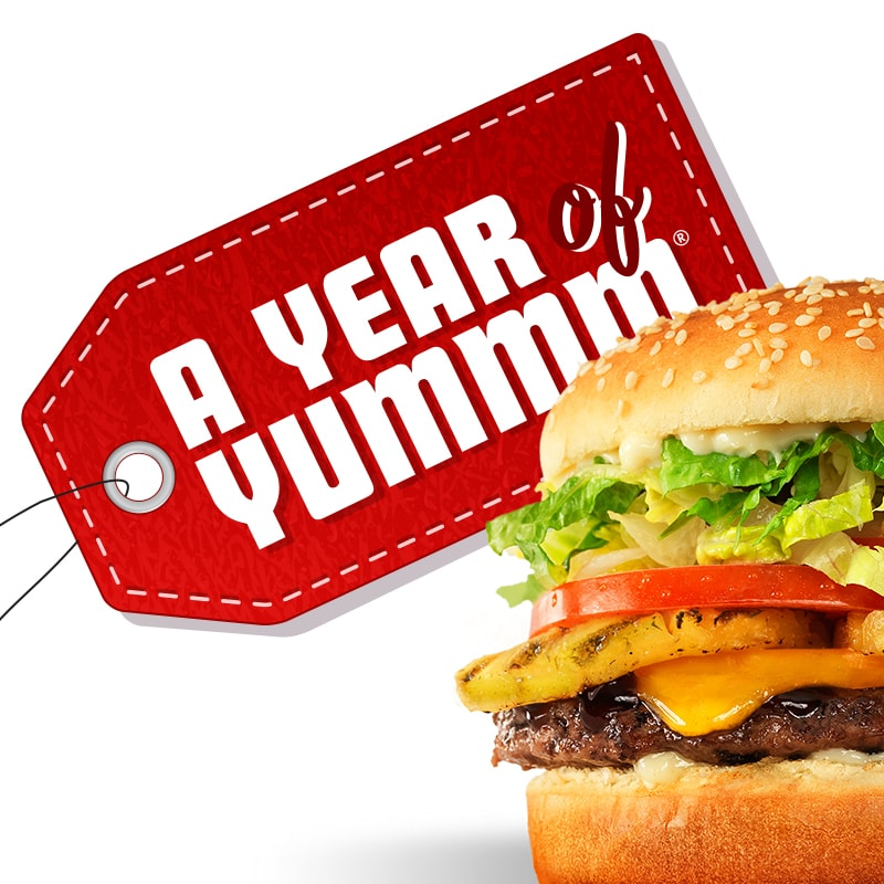 burgers for a whole year