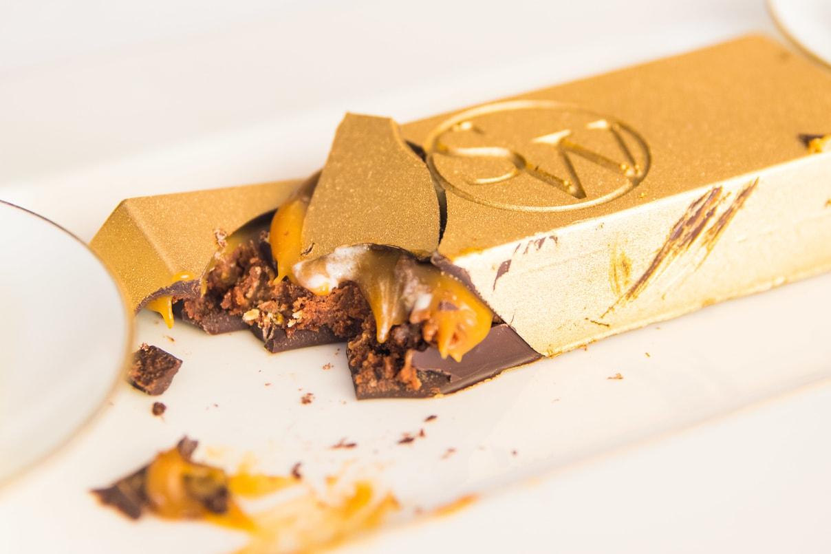 $100 Gold Chocolate Bar