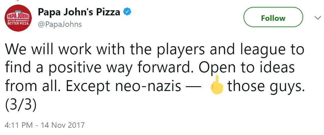 flips off neo-nazis
