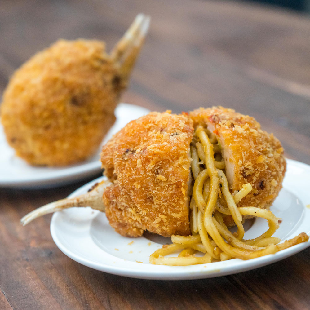 noodle stuffed crab claw