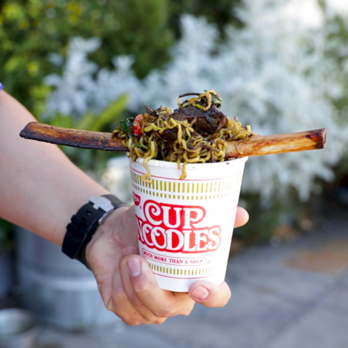 San Francisco S Farmhouse Thai Just Created Spicy Volcano Cup Noodles