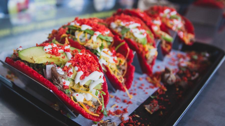 flamin' hot cheetos tacos
