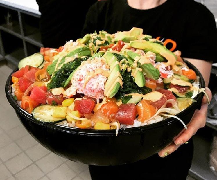 10-pound poke bowl