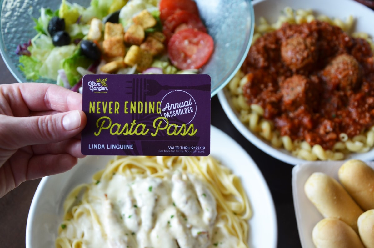 All The Pasta You Can Eat With Olive Garden S Never Ending: Olive Garden To Sell 'Annual Passes' That Get You Free