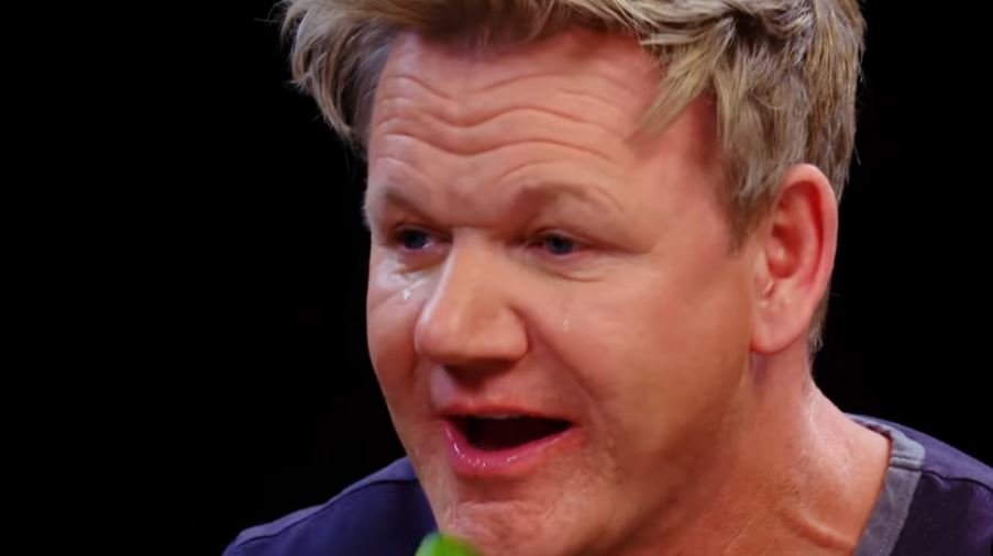 Gordon Ramsay Literally Starts Crying During Hot Wing Challenge Discussing his culinary influences, and how to make the perfect burger. foodbeast
