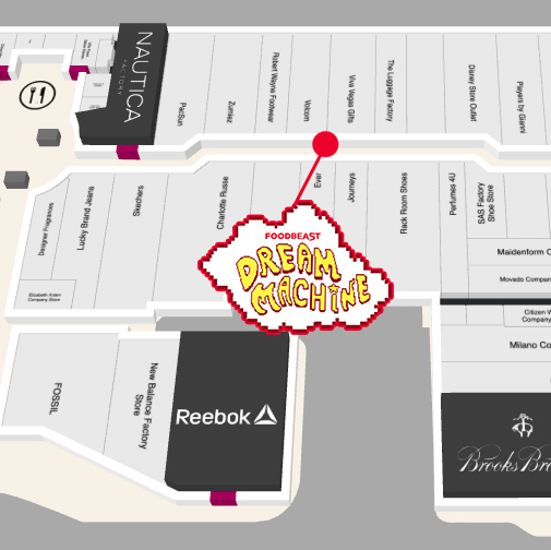 This NEW FOODBEAST #DreamMachine Uses Social Media As Currency For Del Amo Mall Map on