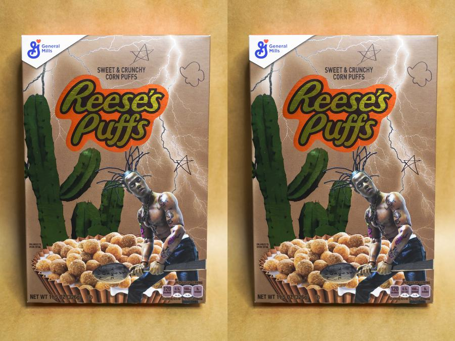 Travis Scott Is Dropping A Limited Edition Acrylic Reese S Puffs Cereal Box