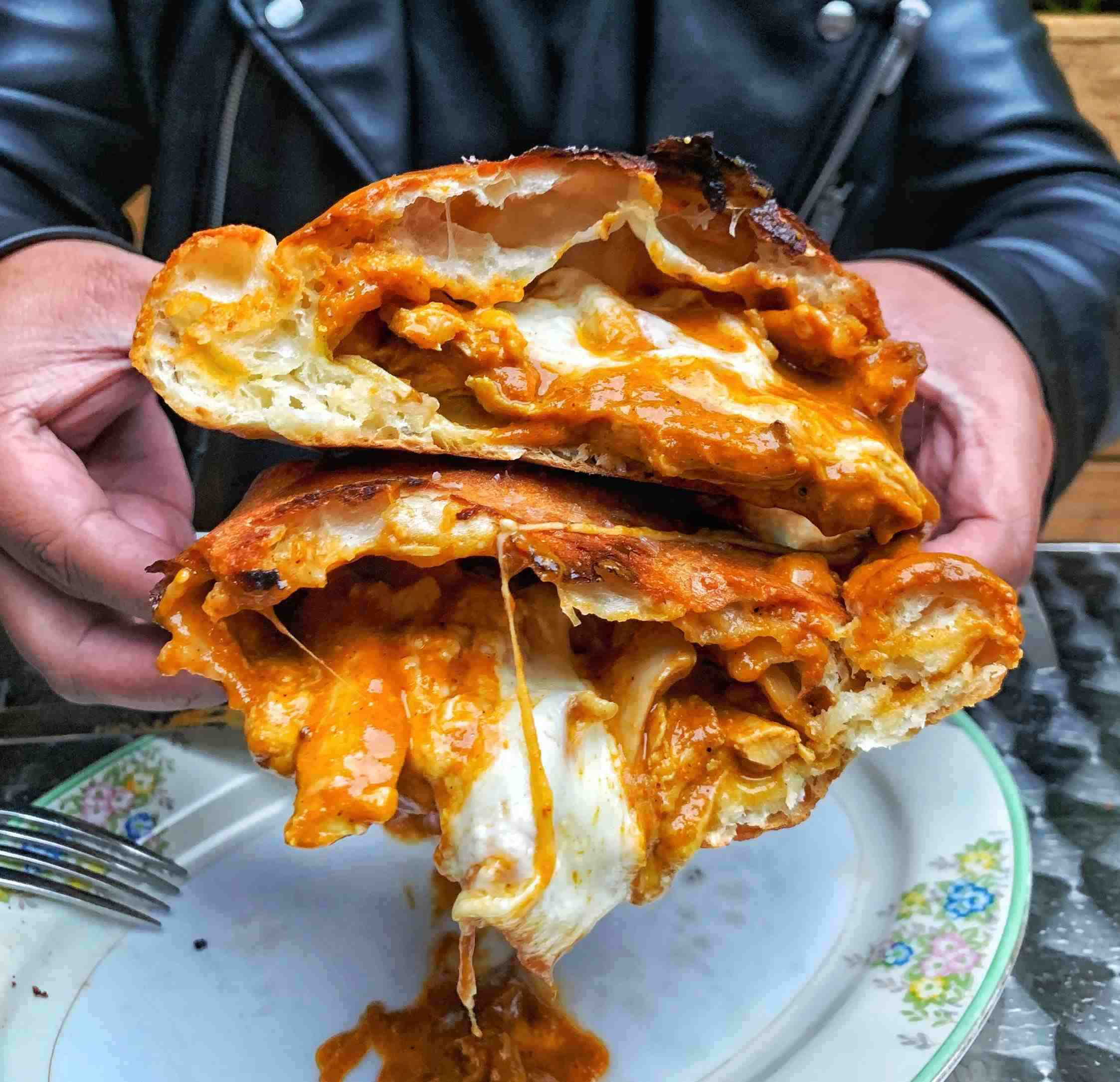 superkhana butter chicken calzone