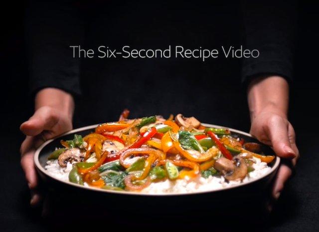 Six Second Recipe Video