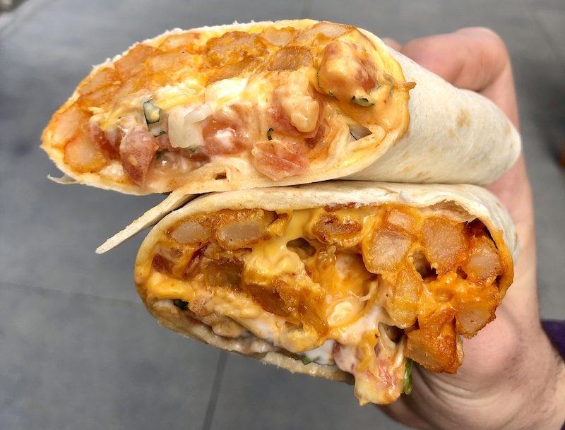 buffalo chicken nacho fries burrito