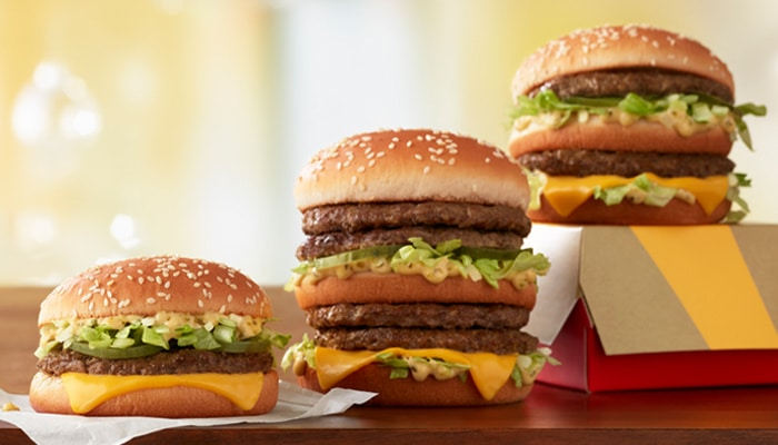 big mac sizes