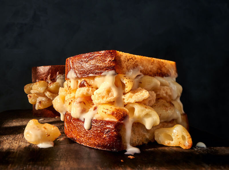 panera grilled mac & cheese sandwich