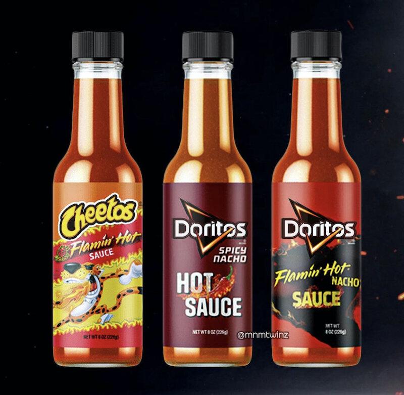 cheetos doritos hot sauces