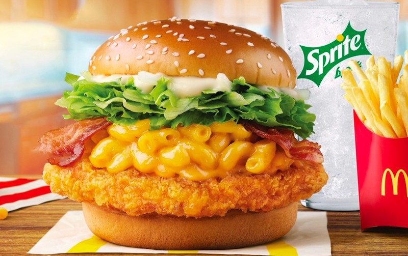 McDonald's Spicy Mac and Cheese Burger